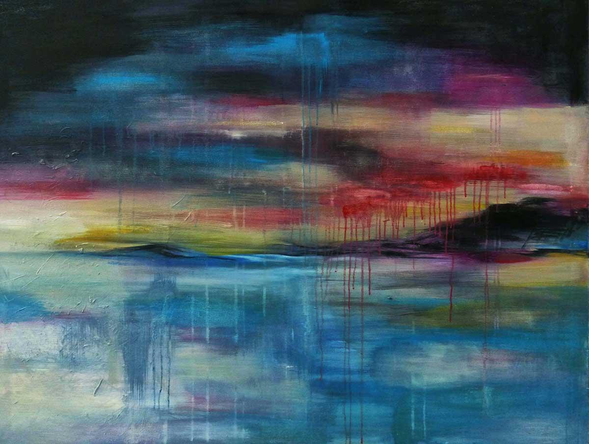 Peinture à l'huile paysage de bord de mer