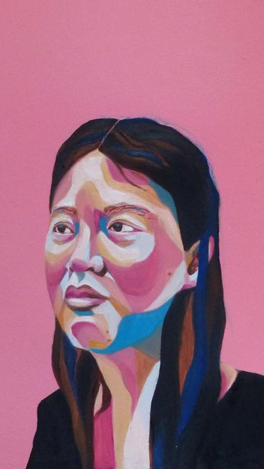 Portrait d'une jeune femme asiatique